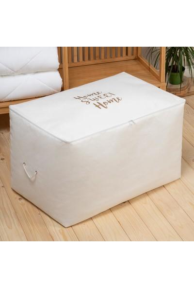 Ocean Home Mega Boy Beyaz Renk Home Sweet Home Baskılı Hurç // 74X46X46