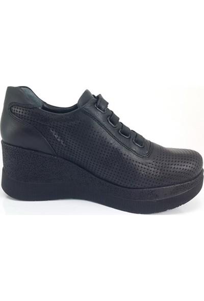 3085 Mammamia Günlük Kadın Ayakkabı-Siyah