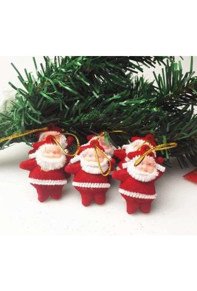 Parti Dünyası Noel Babalar Asılabilir Ağaç Süsü 6 Adet