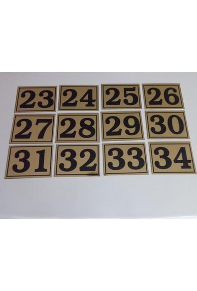 Gendec 6x8 cm Yapışkanlı No 1'den 24'e Raf, Posta Kutusu, Dolap, Ayakkabılık, Kapı Numarası