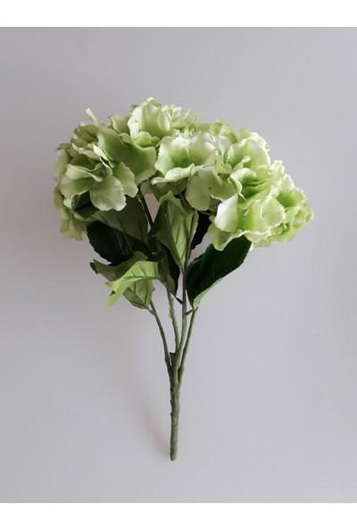 Adresiyapayçiçek 5 Dal Lüx Ortanca Demeti Yeşil