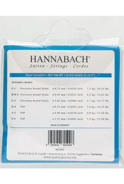 Hannabach 850 Ht Klasik Gitar Teli
