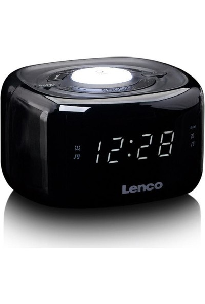 Lenco CR-12BK Stereo Saatli Radyo Çift Alarmlı Gece Lambalı Çalar Saat
