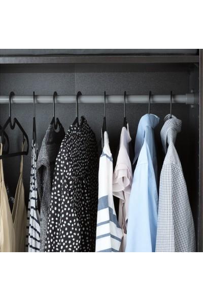 Mnsr Spruttıg Siyah Giysi Askısı 10 Adet