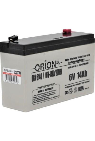Orion ORN6140 6V 14AH Bakımsız Kuru Akü