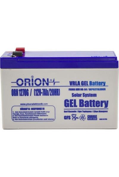 Orion ORN1270G 12V 7AH Jel Akü