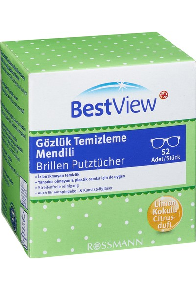 Best View Gözlük Temizleme Mendili 52 Adet