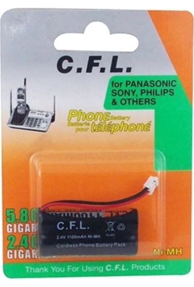 Cfl 2.4V 1100MAH Aaa Telsiz Telefon Pili 2 Kablolu