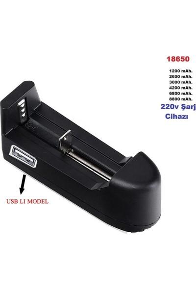 Emay Center 18650 Pil Şarj Cihazı Tekli 3.7V 500MAH USB ile Şarj Etme Fonsiyonlu Versiyon 2
