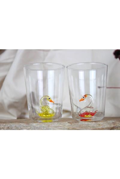 Adamodart Kuğu Figürlü 6'lı Su Bardağı Set