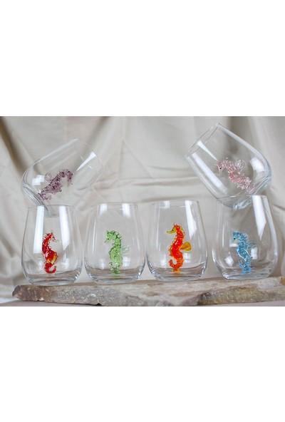 Adamodart Denizatı Figürlü Su Bardağı 6'lı Set