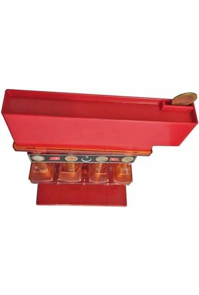 Mümtaz Metal Paramatik Bozuk Para Ayrıştırıcı Kırmızı
