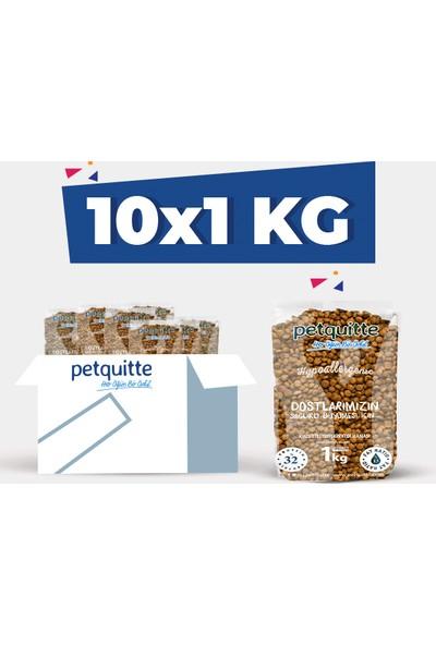 Petquitte Kuzu Etli Yetişkin Kedi Maması 1 Kg X 10 Adet