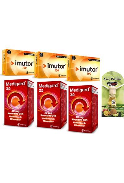 Eczacıbaşı Imutor 100 Mg Kapsül ve Medigard 30 Tablet Seti x 3 Adet + Araba Parfümü