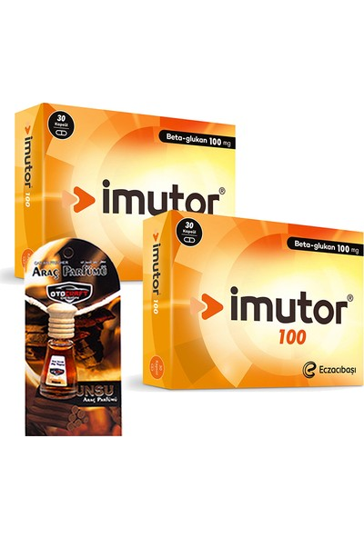 Eczacıbaşı Imutor Beta Glukan 100MG 30 Kapsül x 2 Adet + Araba Parfümü