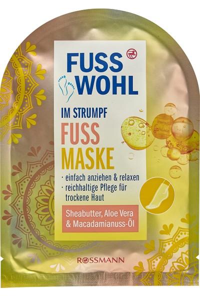 Fusswohl Ayak Bakım Maskesi Shea Yağı-Macadamia Fındık Yağı-Aloe Vera 1 Adet