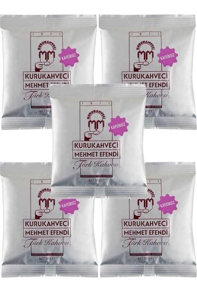 Kurukahveci Mehmet Efendi Türk Kahve Kafeinsiz 50 gr 5'li