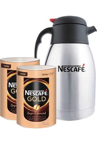 Nescafe Gold Teneke 900 gr 2 'li + Termos