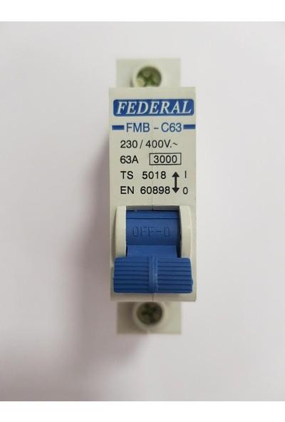 FEDERAL 63A C/3ka Otomatik Sigorta Federal
