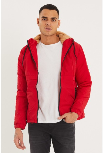 LENASSO Trend&you Kapşonlu Mont Kırmızı