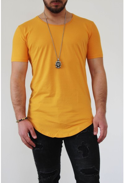 Boldy Erkek Long Fit Tişört-Long Tişört-Long Kesim Tişört-Erkek Basic Tişört-Uzun Kesim Erkek Tişört
