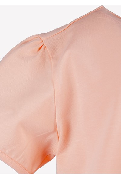 OZMOZ Kolye Hediyeli Pembe Kız Çocuk Organik T-Shirt