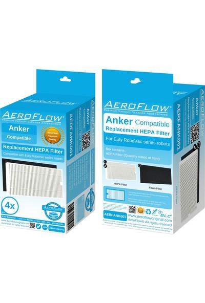 Aeroflow Anker Eufy Robovac 11S Plus Hepa Filtre - 4 Adet