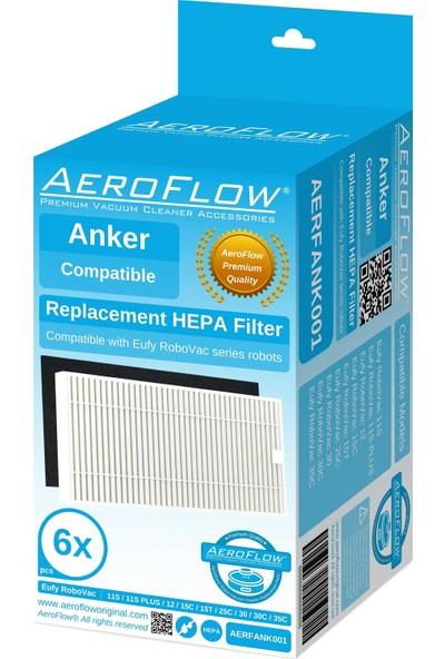 Aeroflow Eufy Robovac 11S - 35C / 12 / 15C / 15T / 30 / 30C / 35C Filtre - 6 Adet