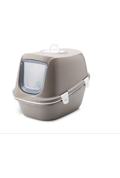 Savic Reina Kapalı Kedi Tuvaleti Gri