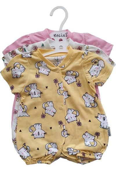 Baby Hil 3lü Kız Bebek Yazlık Tulum Set