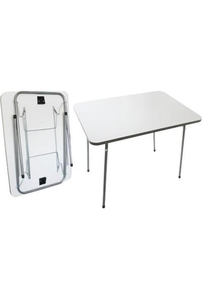 Housepack Pratik Katlanır Kamp Piknik Masası 60 x 80 Beyaz