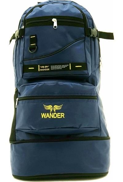 Wander Körüklü Dağcı Lacivert Sırt Çantası 65 Litre Kapasiteli Kamp Dağcı Çantası