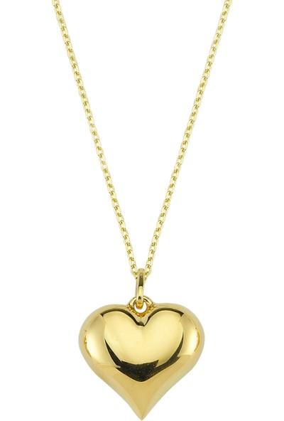 Altınbaş Altın Kalp Kolye