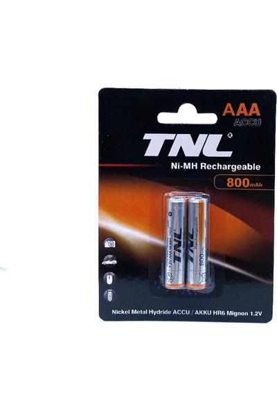 Tnl 1.2V 800MAH Aaa Ince Şarj Edilebilir Pil