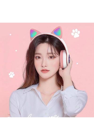 Buyfun Stn-28 Kulak Üstü Müzik Kulaklık Parlayan Kedi (Yurt Dışından)