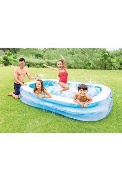 Intex Dış Bölme Şeffaf Aile Havuzu 262X175X56 Cm+Pompa