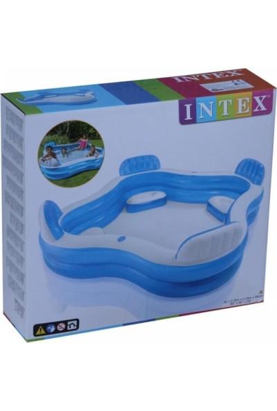 Intex Koltuklu Aile Havuzu 229X229X66 cm Şişme Havuz