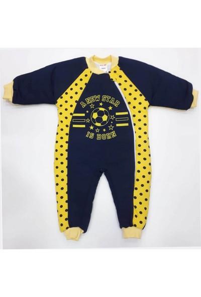 Özlem Bebe 1-4 Yaş Arası Sarı Lacivert Uyku Tulumu