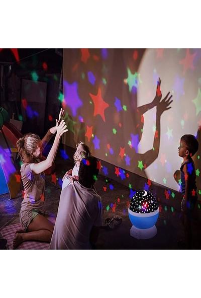 Star Master Renkli Yıldızlı Gökyüzü Projeksiyon Gece Lambası