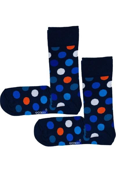 Calze Vita Lacivert Puantiyeli Erkek Çorabı