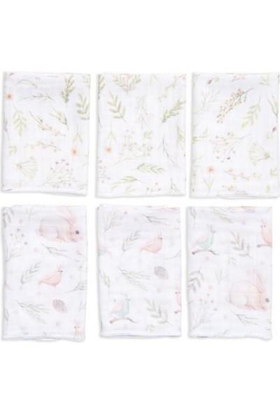 Funna Baby 9673 6'lı Müslin Ağız Bezi Garden 30 x 30 cm