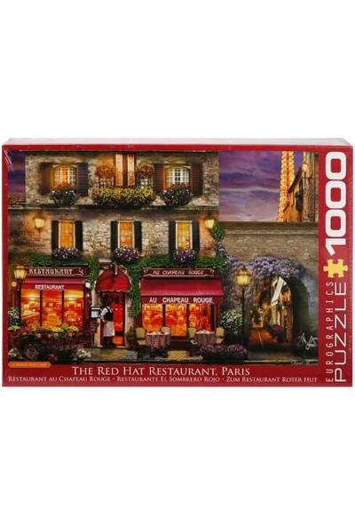 1000 Parça Puzzle : The Red Hat Restaurant Paris - David Maclean