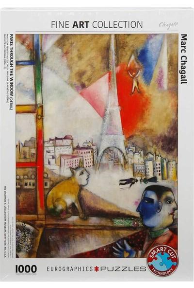 1000 Parça Puzzle : Paris Through The Window - Marc Chagall