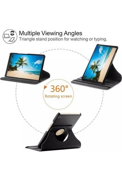 "Essleena Samsung Galaxy Tab A7 SM-T500 2020 10.4"" Kılıf + Kalem Uyku Modlu 360 Derece Dönebilen Standlı Tablet Kılıfı Pembe"