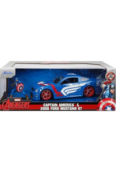 1:24 Avengers Captain America ve 2006 Ford Mustang Gt Araba