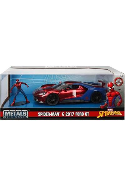 1:24 Spiderman Figür ve 2017 Ford Gt Araba