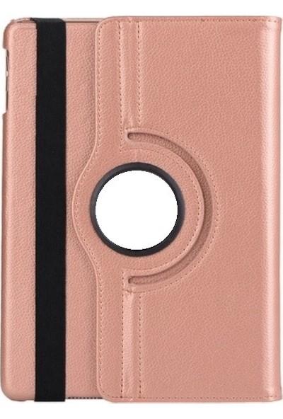 "Essleena Samsung Galaxy Tab A7 SM-T500 2020 10.4"" Kılıf + Kalem Uyku Modlu 360 Derece Dönebilen Standlı Tablet Kılıfı Ros Gold"