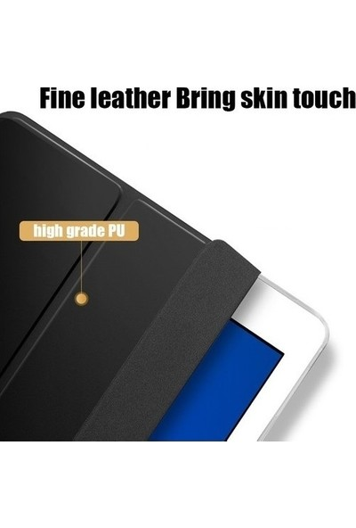 Essleena Samsung Galaxy Tab P610 P615 P617 10.4 Inç Yatay Standlı Uyku Modlu Smart Case Kırmızı