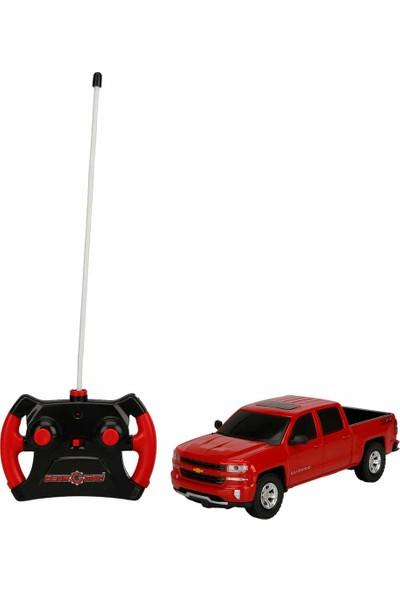 Kidztech 1:26 Uzaktan Kumandalı Chevrolet Silverado Araç - Kırmızı