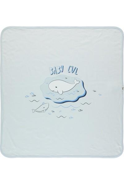 Civil Baby Erkek Bebek Çift Kat Battaniye 80X90 cm Mavi
